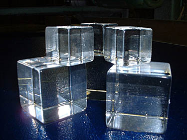 Acrylic Cubes Galaxy Plastic